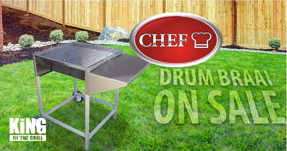 Stainless Steel Charcoal Braais available from King Of The Grills